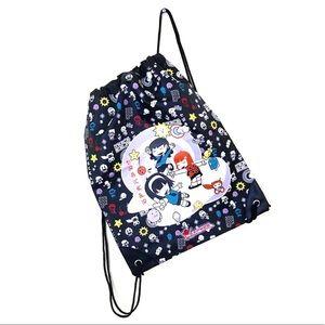 Kawaii anime Japanese pastel goth black gym bag